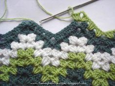 Transcendent Crochet a Solid Granny Square Ideas. Inconceivable Crochet a Solid Granny Square Ideas. Crochet Diy, Crochet Motifs, Love Crochet, Learn To Crochet, Crochet Crafts, Yarn Crafts, Crochet Stitches, Crochet Ripple, Crochet Afghans