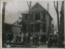 1936 Press Photo Burned House Where Five People Died in Fire, Detroit Michigan