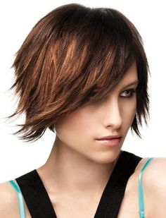 Medium length bob with side fringe