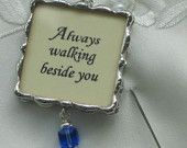 Customized Photo Memorial Charm for your Bridal Bouquet and Keepsake
