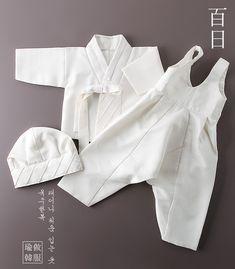 백일전용 Korean Traditional, Traditional Dresses, Korean Outfits, Kids Outfits, Tandoori Masala, Korean Hanbok, Korean Babies, Latin Dance Dresses, Doll Dress Patterns