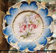 RS Prussia Antique Porcelain Large Charger by PattysPorcelainEtc