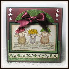 House Mouse Christmas card.