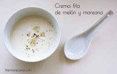 Crema fría de melón y manzana con menta y limón - http://www.thermorecetas.com/2013/07/21/crema-fria-de-melon-y-manzana-con-menta-y-limon/