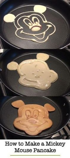 How to make pancake art share todays craft and diy ideas mickey mouse pancakes ccuart Gallery
