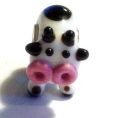 Cow Lampwork European Bead. Starting at $6 on Tophatter.com!