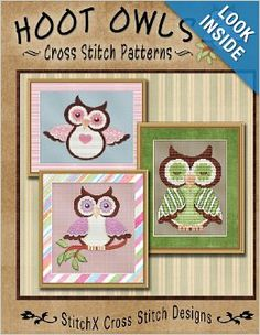 Hoot Owls Cross Stitch Patterns: Tracy Warrington, StitchX: 9781479252237: Amazon.com: Books