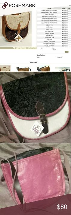 """Frye New with tags attached  Charlie leather bags  This bag is GORGEOUS and quality is comparable to Frye but in my opinion twice as good!! Messanger/Shoulder/Crossbody bag Bags vary due to calf/pony hair I'm selling bag shown in photo 2,3,4.. Used first photo to show better style of bag, stocks are always better You can order this bag right now for  $300 14""""x11""""5 12"""" Length 11.5"""" width  10.5"""" depth  Listed as Frye for exposure Frye Bags"""