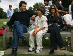 Just another one of Imran Khan, with Jemima Khan and one of their sons. Too bad they split - shes a pretty cool lady from what I can tell from her twitter.