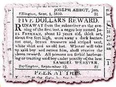 Runaway slave ad.