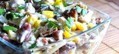 Šalát s kuracím mäsom a fazuľou | mňamky-recepty.sk |na každý deň