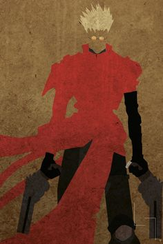 Vash the Stampede from Trigun. Loving this fanart for some reason! Vash is a wonderful character ^-^ I Love Anime, All Anime, Anime Manga, Anime Guys, Anime Life, Rick And Morty Poster, Vash, Anime Artwork, Minimalist Art