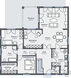 schwedenhaus eingeschossig skandihaus 148 grundriss haus pinterest bungalow house und. Black Bedroom Furniture Sets. Home Design Ideas