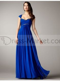 Shop 2012 Collection New Arrival Prom Dresses Fall Colors Blue Empire Waist  Square Floor length Chiffon   gowns inexpensive, formal   vogue party  dresses ... e23dd559a9