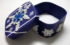 Quilled SNOWFLAKE Box by Meenchie82 on Etsy