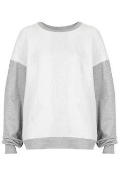 Comfy sporty Topshop sweatshirt (chic sweatshirt trend)