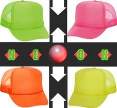 neon trucker hats!