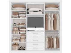 trendy built in closet cabinets cupboards Bedroom Cupboard Designs, Bedroom Closet Design, Bedroom Cupboards, Bedroom Wardrobe, Wardrobe Closet, Built In Wardrobe, Small Apartment Closet, Apartment Closet Organization, Small Closet Space