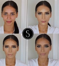 Contouring avant /apres - Lea W. Beauty Make-up, Beauty Makeup Tips, Makeup Inspo, Makeup Inspiration, Beauty Skin, Beauty Hacks, Beauty Zone, Face Contouring, Contour Makeup