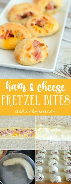 Ham and Cheese Pretzel Bites - everyone loves these appetizers! They are a perfect appetizer recipe for any occasion. via @creationsbykara.com