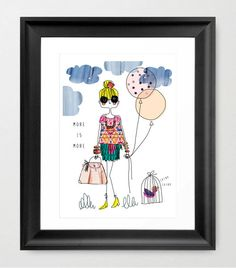 fashion illustration Fashion Quote fashion art by diarysketches, $15.00  Taylor's Room-this is SO her!