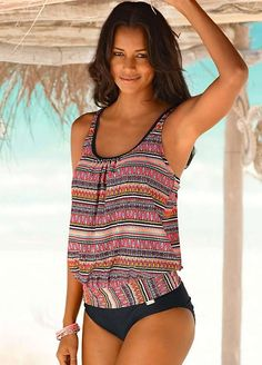 babf42fd28804 Top-Of-The-Line NEW 2016 Figure-Flattering Tribal Printed High Quality Sexy  Women's Tankini Bathing Suit Set 4 Colors