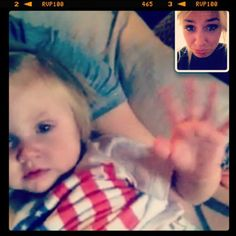 Lou and Lux facetiming while Lou was away in Paris awe:)