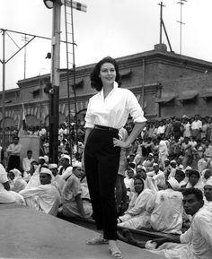 Ava Gardner during filming of Bhowani Junction (1956) in Pakistan.