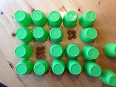 Memory game using paper or plastic cups, good idea to use either for maths or as a phonic activity-match item and identify initial sound -must try! Subitizing, Initial Sounds, Phonics Activities, Memory Games, Math Classroom, Maths, Math Lessons, Four Seasons, Truck Design