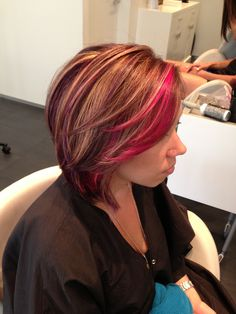 Some cool purple highlights #purplehair #highlights #sexyhair