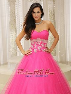 MLXN911409 A-line Quinceanera Dress With Sweetheart and Appliques Decorate Waist Tulle In California   customize exclusive sweet 16 dresses | perfect plus size quinceañera gowns | gorgeous sweet sixteen quinceanera dresses | simple pretty quinces dresses | the most popular quinceanera dresses | romantic elegant vestidos para quinceaneras | discount 2013 quincenera dresses | cheap quinceanera dress | a line quinceanera dress | hot pink quinceanera dress  http://www.fashionos.com/