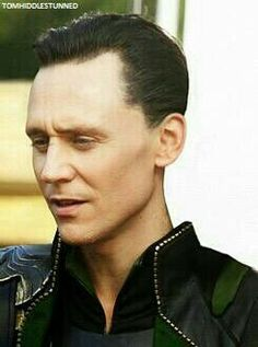 no idea if this is photoshopped or not but Tom as Loki with short hair does things to me