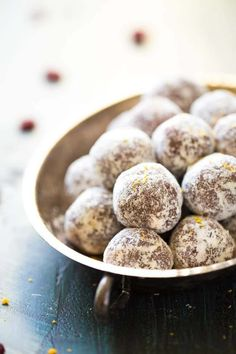 1. Cranberry Orange Energy Bites #healthy #energy #bites http://greatist.com/eat/energy-bites-recipes-for-on-the-go-snacking