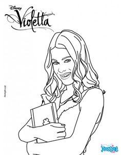 Desenhos para colorir da Violetta - 2