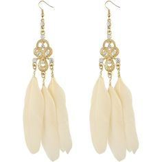 Miso Grecian Feather Earrings (200 UAH) ❤ liked on Polyvore featuring jewelry, earrings, accessories, bijoux, women, gold jewellery, yellow gold earrings, gold feather earrings, feather jewelry and gold feather jewelry