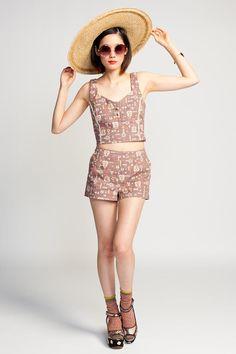 Lucca Couture Get Tribal High Waist Shorts $62 #highwaist #highwaisted #shorts #vintage #bohemian #floral #print #mini
