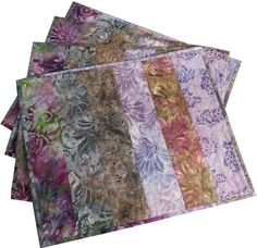 Quilted Placemats in Shades of Purple Batik by Sieberdesigns