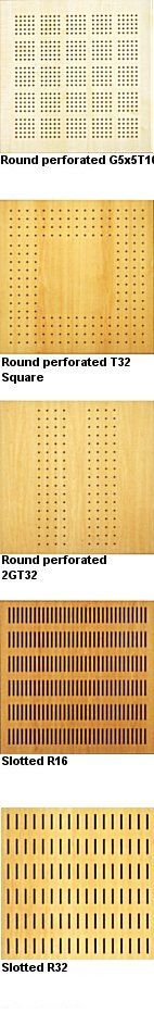 Timber Perforated Acoustic Panel Systems