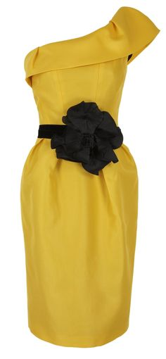Yellow tulip with black corsage