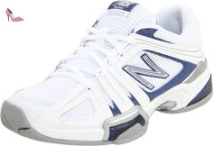 New Balance - Womens 1005 Stability Tennis / Court Shoes, UK: 6.5 UK - Width 2A, White with Navy - Chaussures new balance (*Partner-Link)