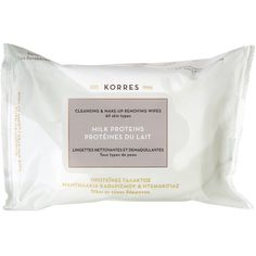 Korres Milk Proteins Cleansing Wipes ($10) ❤ liked on Polyvore featuring beauty products, skincare, face care, makeup remover and korres