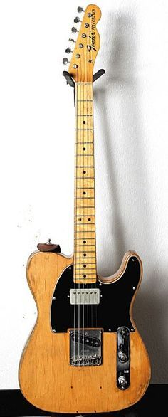 Fender Telecaster. '68 Telecaster with a humbucker that had already been installed when he acquired it.