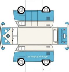 Sarah Pinyan posted paper toy VW to her -Papercraft- postboard via the Juxtapost bookmarklet. Paper Car, Paper Toys, Diy Paper, Free Paper, Diy With Kids, 3d Templates, Rainy Day Fun, Paper Models, Vw Bus