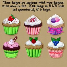 cup cake pattern for quilt | golden_needle_designs Store