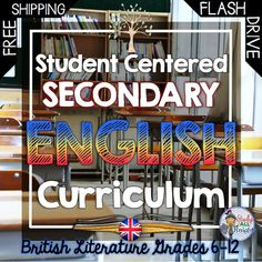Do you want great interactive, differentiated, and practical materials for your secondary English Language Arts classroom? Student Centered Secondary English Curriculum British Literature- Get Writing, Vocabulary, Organizers, Poetry, Many bonus activities. FREE SHIPPING! ($)