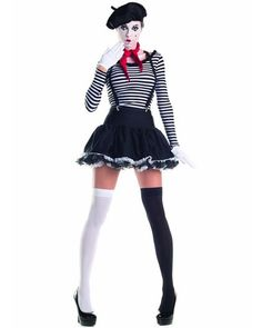 Mesmerizing Mime Womens Costume
