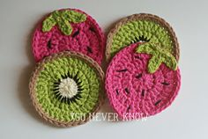 You Never Know by Andrea VanHooser Womack: Kiwi Coaster