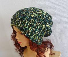 Hand Knit Hat women knit ombre hat slouchy women Slouchy by Ifonka