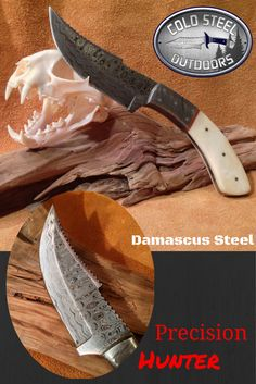 Cold Steel Outdoors World Class Damascus Steel Hunting Knives.  Precision Hunter. http://coldsteeloutdoors.com/collections/damascus-steel-knives