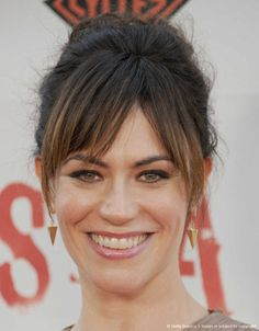 LOS ANGELES, CA - SEPTEMBER 08: Actress Maggie Siff arrives at the 'Sons of Anarchy' season 5 premiere screening at Westwood Village on September 8, 2012.
